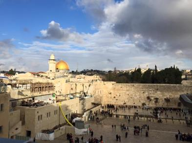 The Western Wall and the Dome of the Rock