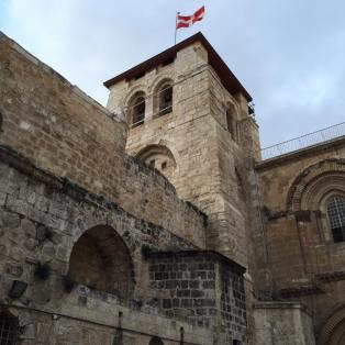 The Church of the Holy Sepulchre, marking the site of Jesus Christ's Cruxifixction, burial and Resurrection, is the holiest site in several branches of Christianity, including Catholicism.
