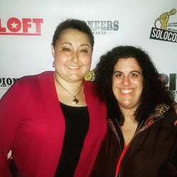 """Stephanie and a friend at the premiere of """"Walk With Me"""" during the 4th Annual SOLOCOM Festival"""