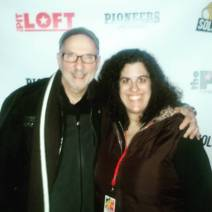 """Stephanie and Dr. Karl Kuban (her neurologist as a toddler) at the premiere of """"Walk With Me"""" at SOLOCOM 2016"""
