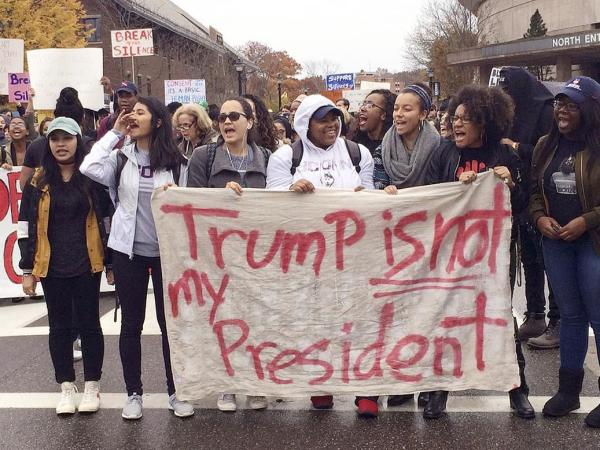 Massive Protests Erupt Across The U.S. After Donald Trump Is Elected President