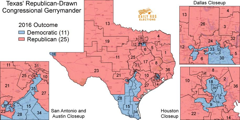 Daily Kos, Texas District Map