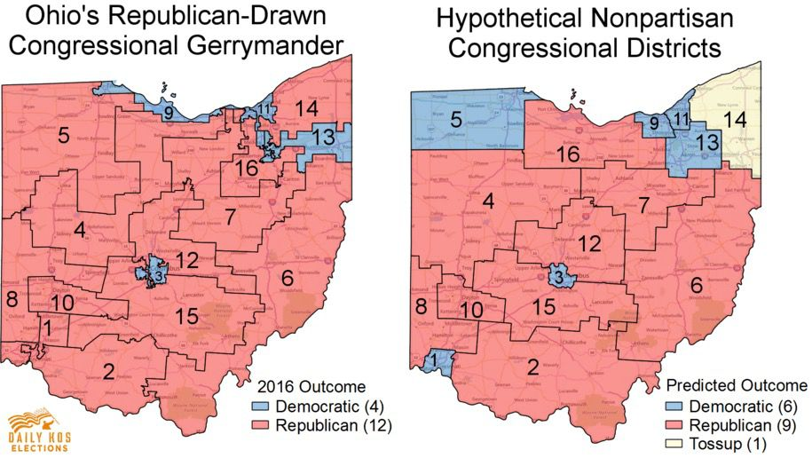 Daily Kos Elections, Ohio district maps