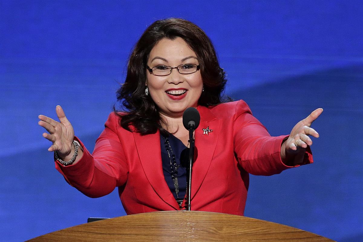 Tammy Duckworth addresses the Democratic National Convention in Charlotte, N.C., on Tuesday, Sept. 4, 2012 (AP Photo/J. Scott Applewhite)