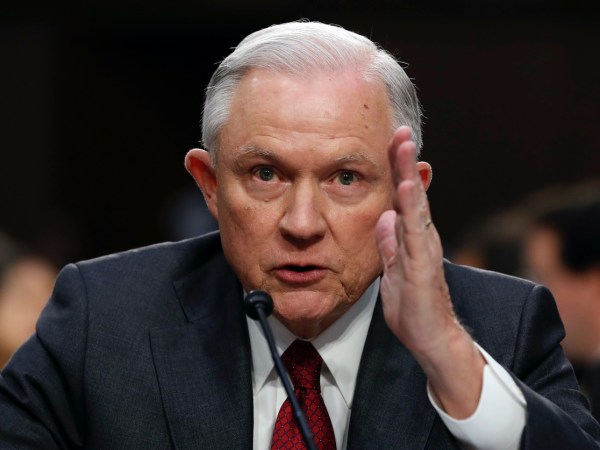 """WATCH: Attorney General Jeff Sessions Joins """"Lock Her Up!"""" Chant"""