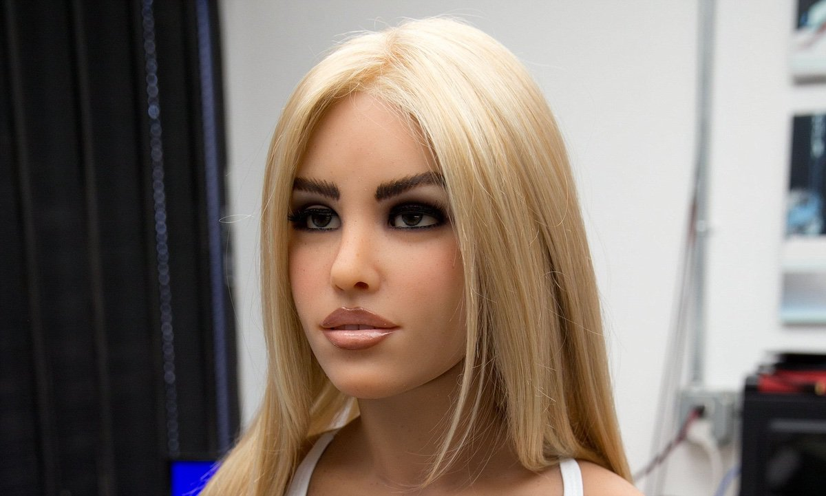 The RealBotix Sex Bot Doll Harmony at the workshop of