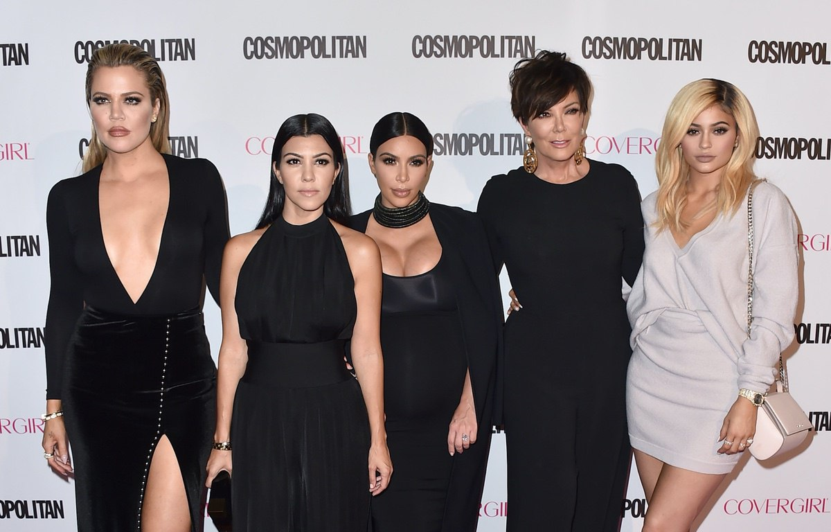 Khloe Kardashian, from left, Kourtney Kardashian, Kim Kardashian, Kris Jenner and Kylie Jenner arrive at Cosmopolitan magazine's 50th birthday celebration at Ysabel on Monday, Oct. 12, 2015, in West Hollywood, Calif. (Photo by Jordan Strauss/Invision/AP)