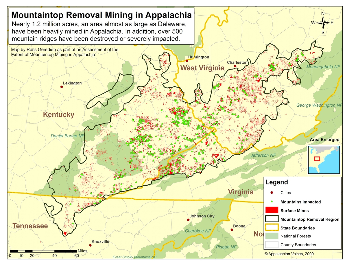 Map by Ross Geredien / Appalachian Voices