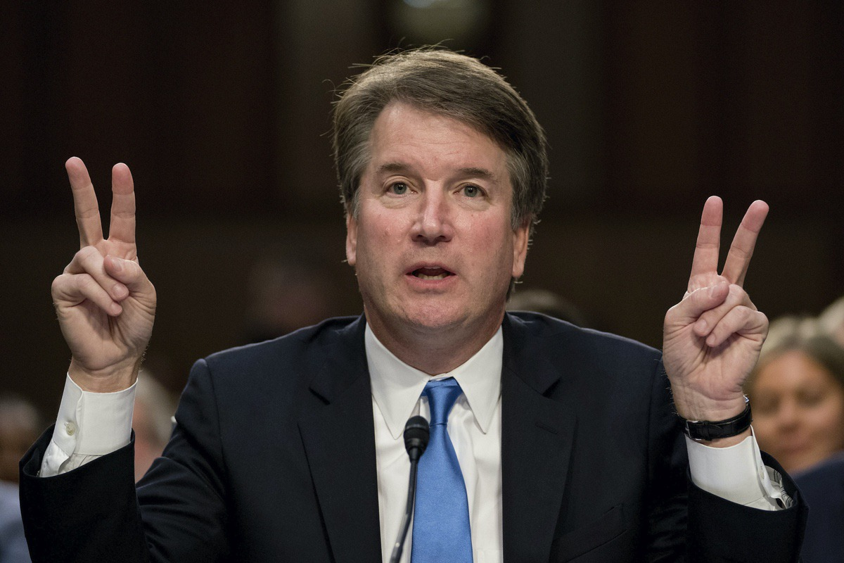 Supreme Court nominee Judge Brett Kavanaugh testifies before the Senate Judiciary Committee on Capitol Hill in Washington, Wednesday, Sept. 5, 2018. (AP Photo/Andrew Harnik)