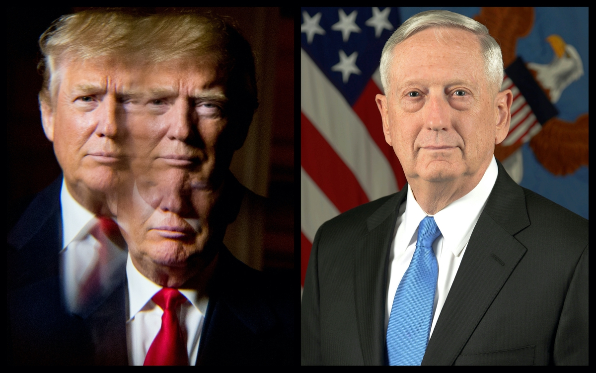 President Trump (AP) and soon-to-be former Secretary of Defense James Mattis (Official White House Photo)