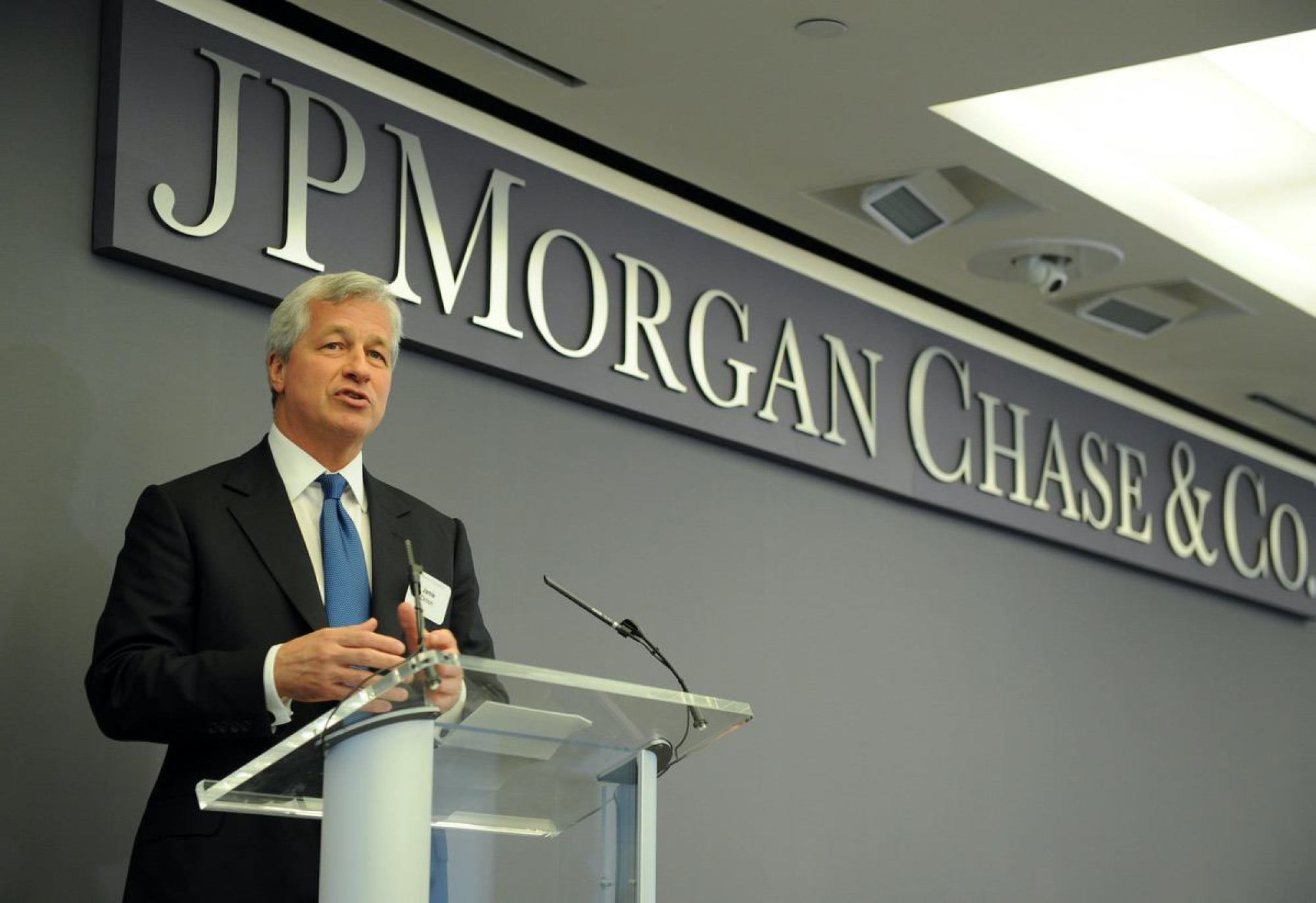 Jamie Dimon, JP Morgan & Chase Co. Chairman and CEO Monday, June 23, 2014, at JPMorgan Chase Headquarters in New York. (Photo by Diane Bondareff/Invision for JPMorgan Chase/AP Images)