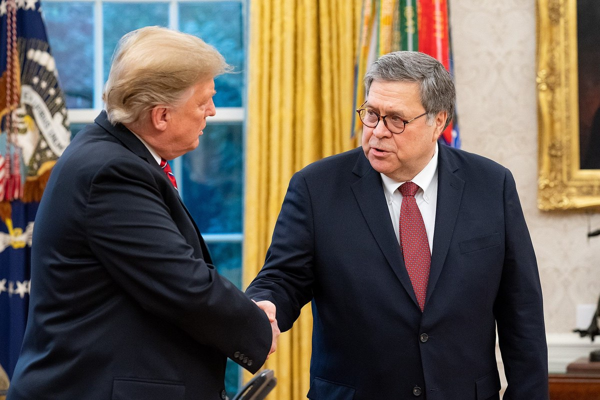 President Donald Trump and Attorney General William Barr - February 14, 2019 (Department of Justice)