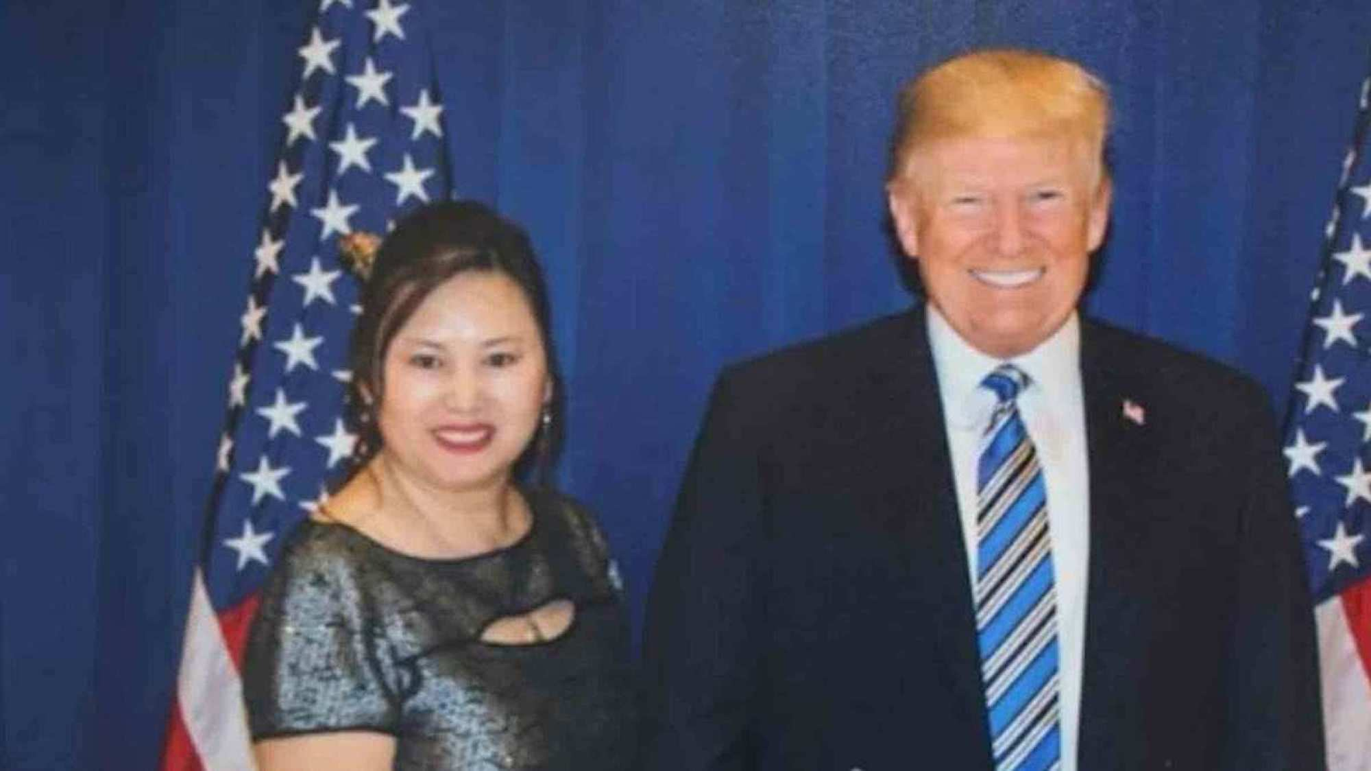Cindy Yang and Donald Trump