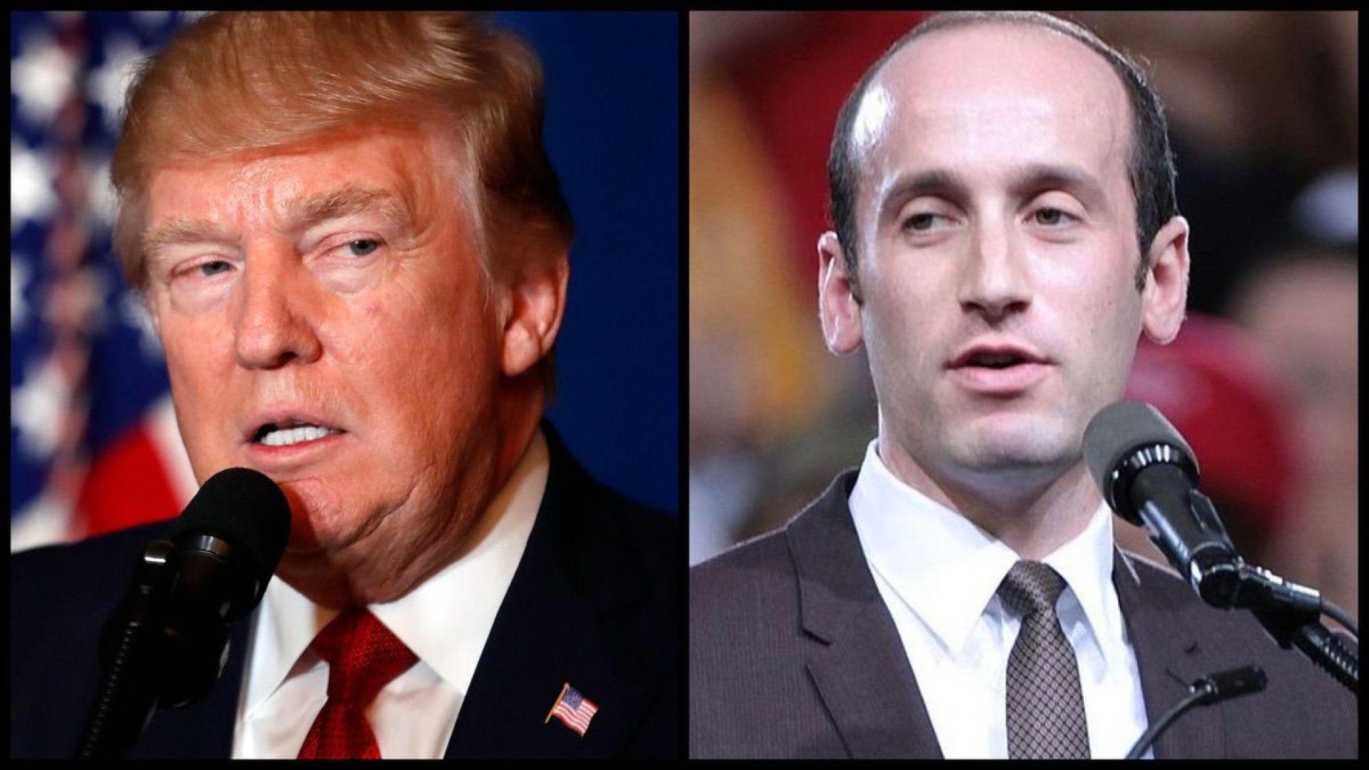 President Trump and Senior White House Adviser Stephen Miller (AP)
