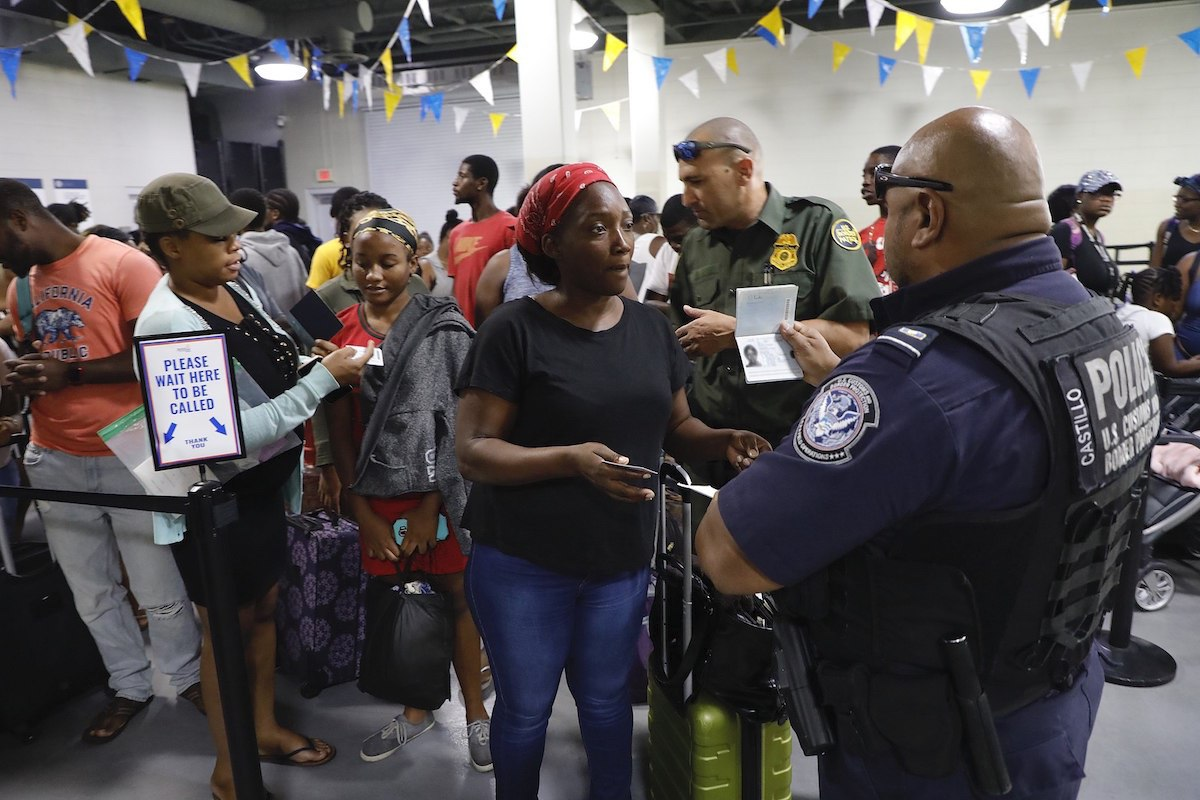 U.S. Customs and Border Protection processing travelers fleeing the Bahamas following the devastating impact of Hurricane Dorian - Port of Palm Beach, Fla., Sept. 7 2019. (CBP photo by Jaime Rodriguez Sr.)