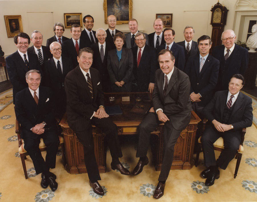 President Ronald Reagan's Cabinet, 1981 (Official White House Photo)