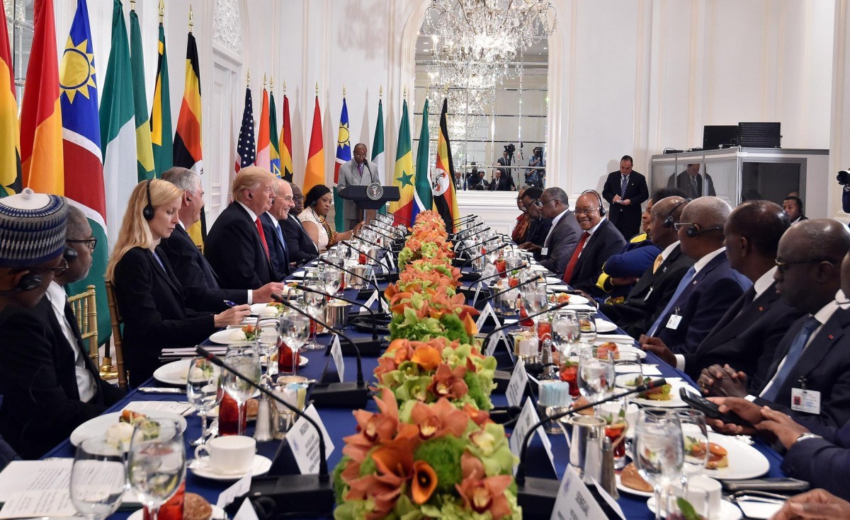 President Donald Trump with a cross-section of African Leaders at AU summit - September 20, 2017 (Official Photo)