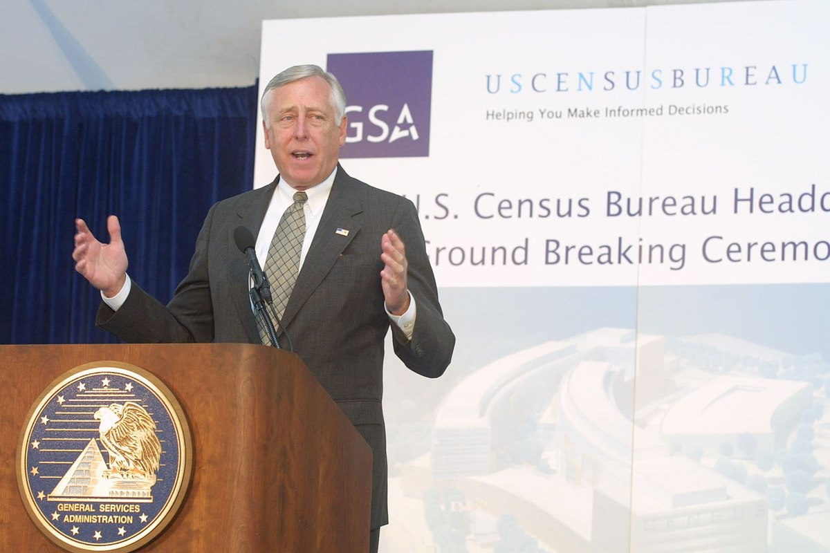 Steny Hoyer at a Census function.