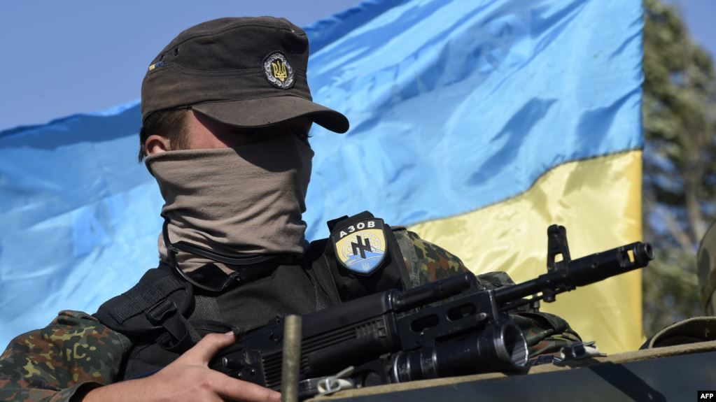A member of the Azov battalion (Getty Images)