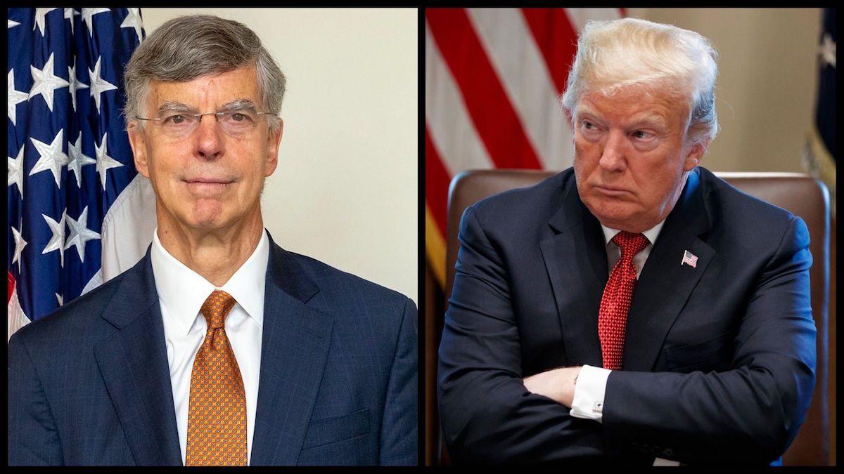 Acting Ambassador to Ukraine Bill Taylor (Official Photos) and President Donald Trump (AP)