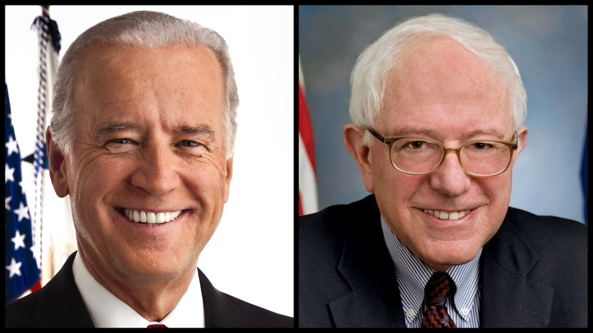 Joe Biden and Bernie Sanders (Official Photos)