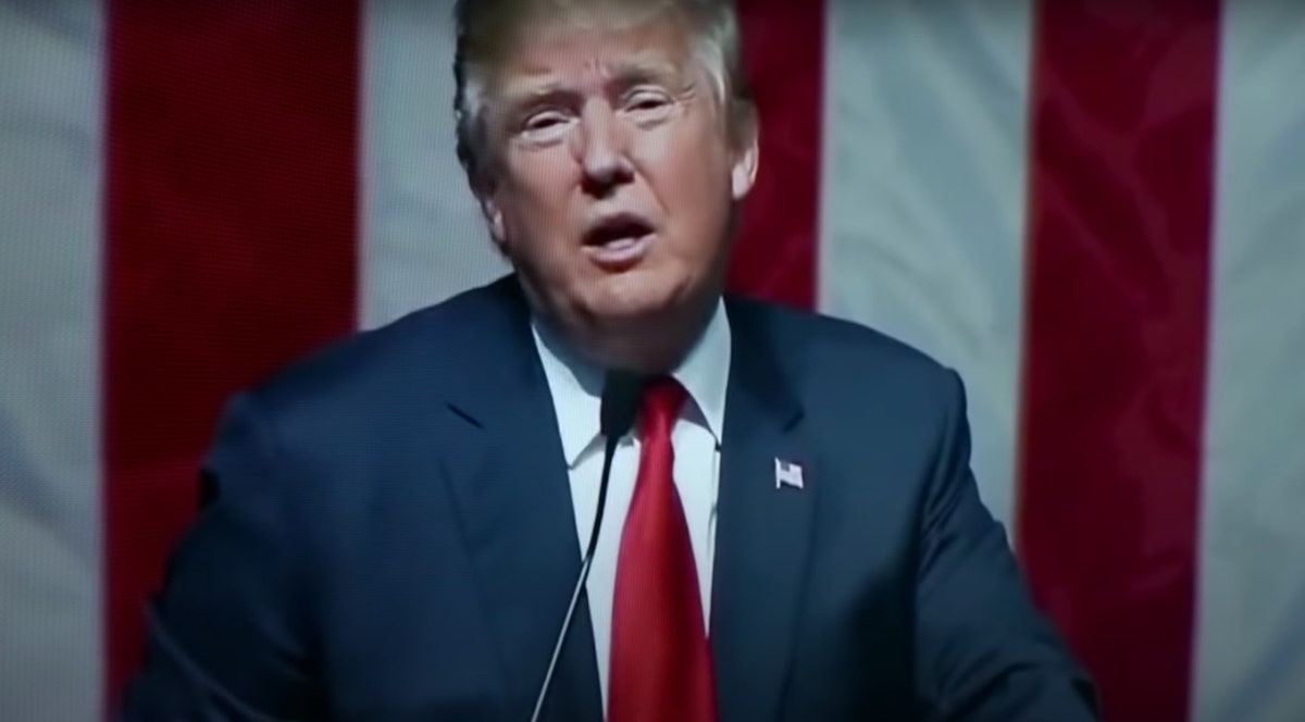 "President Trump in a clip of the Lincoln Project ad ""Mourning in America"""