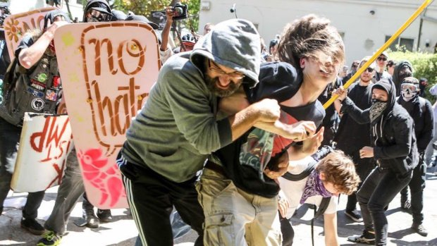 antifa terrorists attack family