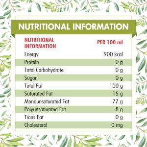 olive oil  Nutri facts