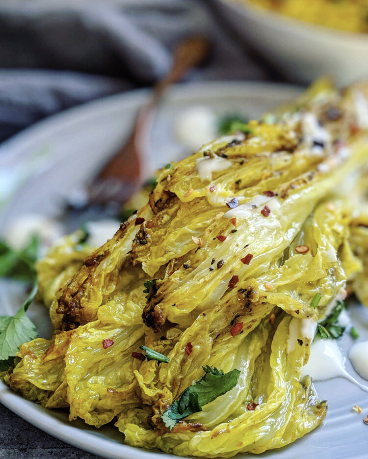 Indian Roasted Napa Cabbage Steaks Raody Recipes