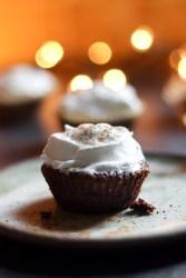 Flourless Chocolate Gingersnap Cupcakes