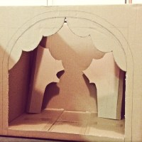 DIY- Cardboard marionette theatre