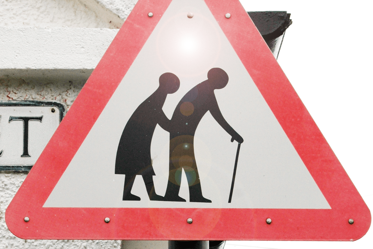 old people road sign