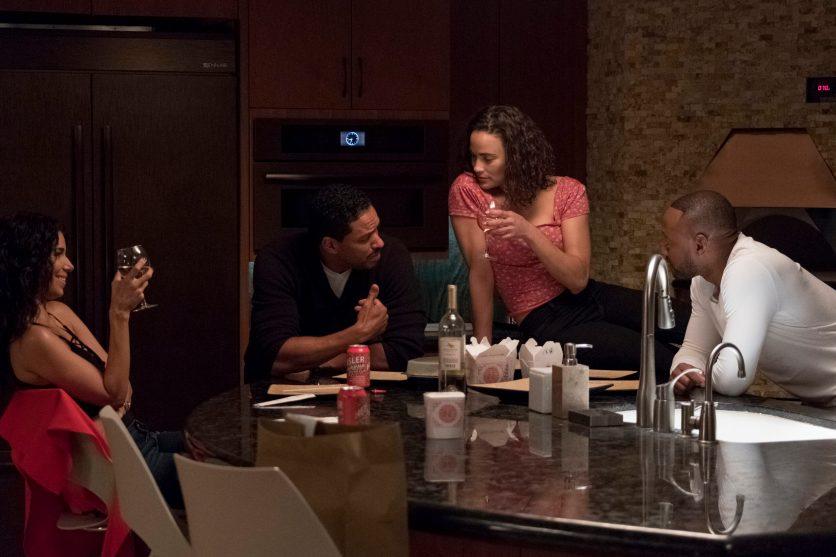 Roselyn Sanchez, Laz Alonso, Paula Patton and Omar Epps star in Traffik Photo: Scott Everett White