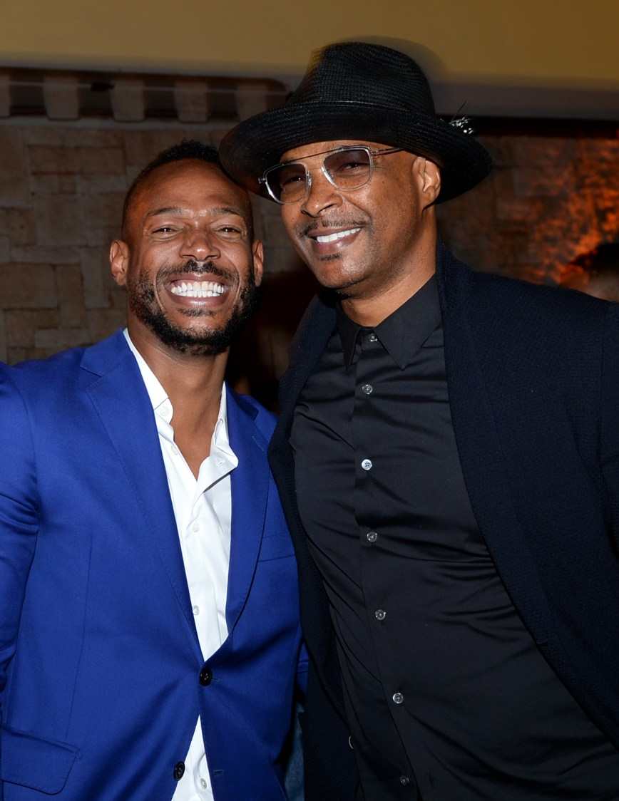 HOLLYWOOD, CALIFORNIA - AUGUST 07: Marlon Wayans and Damon Wayans attend the afterparty for the Netflix World Premiere Of 'SEXTUPLETS' at Le Jardin on August 07, 2019 in Hollywood, California. (Photo by Andrew Toth/Getty Images for Netflix)