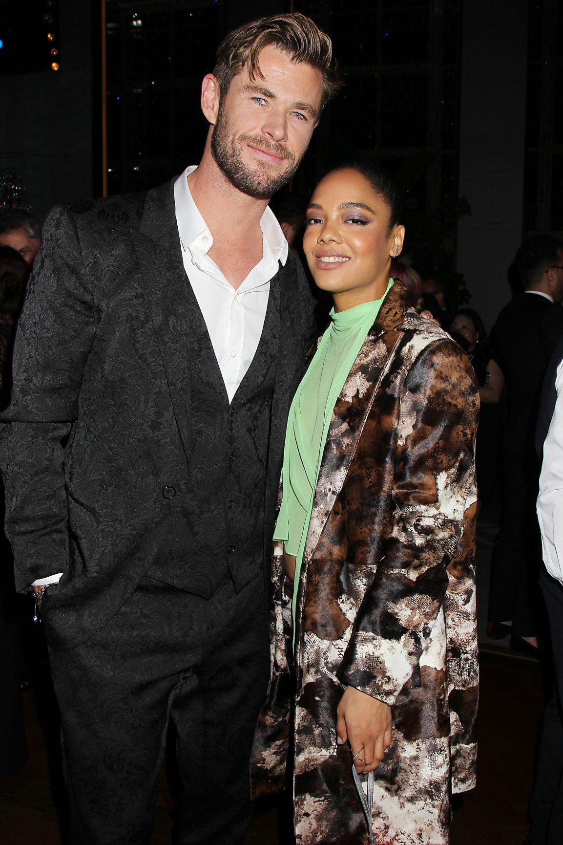 "- New York, NY - 6/11/19 - The World Premiere of Columbia Pictures ""Men In Black: International"" - After Party -Pictured: Chris Hemsworth, Tessa Thompson -Photo by: Dave Allocca/Starpix -Location: Rainbow Room"