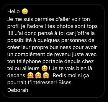 Message de prospection MLM