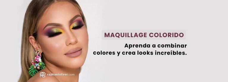 maquillaje colorido como hacer