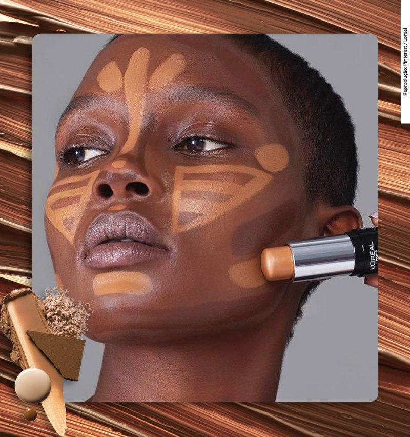 Cual color usar para contornear la piel negra