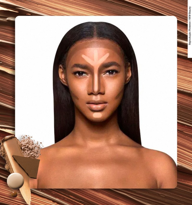 where you should apply contour on dark skin
