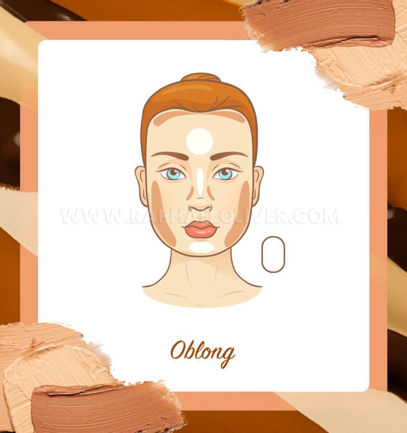 How to contour on oblong face