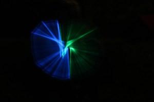 Lightpainting blau-grün