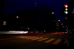 Kreuzung mit Ampel in Bern