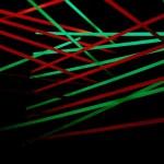 Bild von der Maser-Lichtinstallation beim Olympus Playground