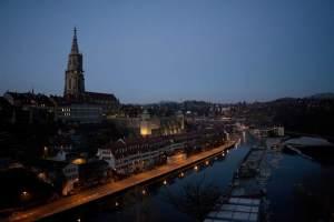 Aussicht auf Münster und Aare in der Museumsnacht Bern