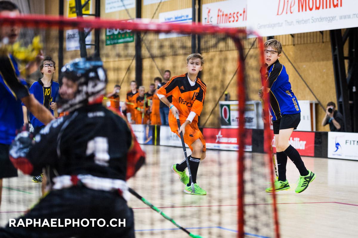 Unihockeyspiel Thun 16C gegen Lions Konolfingen in der MUR-Halle
