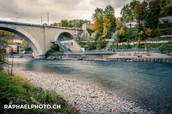 Schöne Fotografie von der Berner Altstadt in Herbst