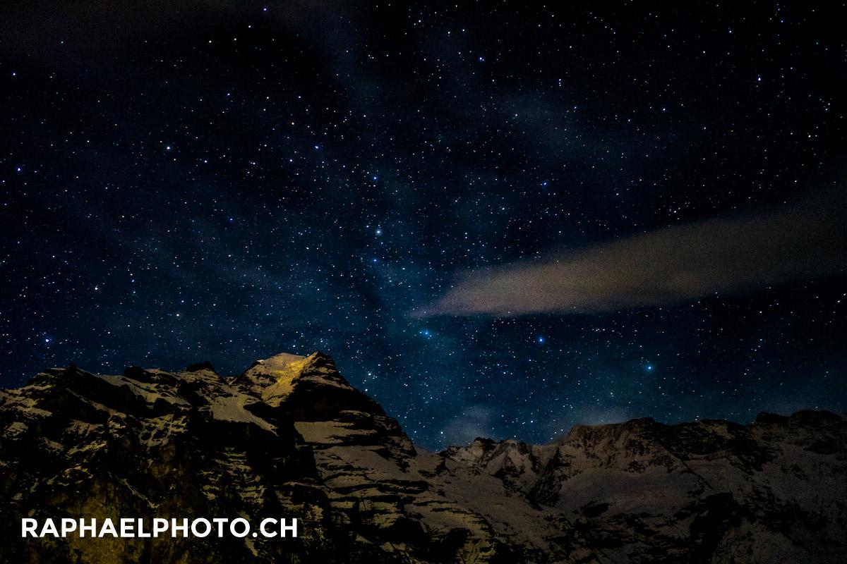 Sternenhimmel vom Hotel Regina in Mürren aus