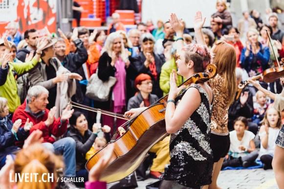 Cello am Strassenfestival Buskers Bern