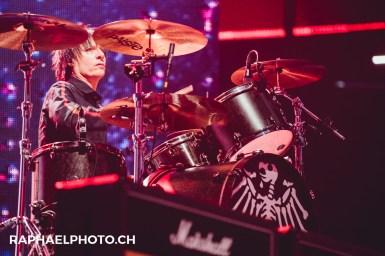 Schlagzeug der Toten Hosen an den Swiss Music Awards 2018 im Hallenstadion (Von Ritschie)