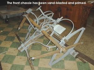 Front chassie sandblasted